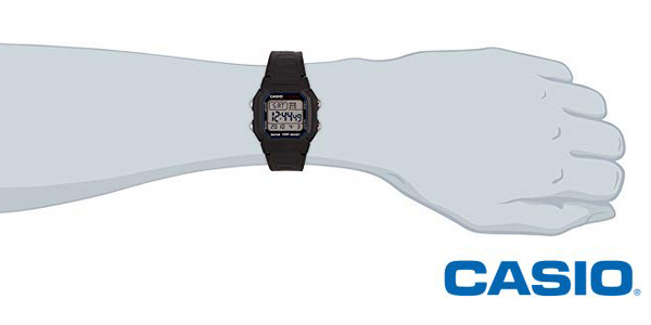 Reloj Digital unisex Casio Collection W-800H-1AVES negro chollazo en Amazon