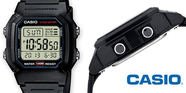 Reloj Digital unisex Casio Collection W-800H-1AVES negro barato en Amazon