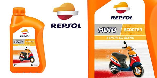 Repsol aceite para motocicleta 2 tiempos barato