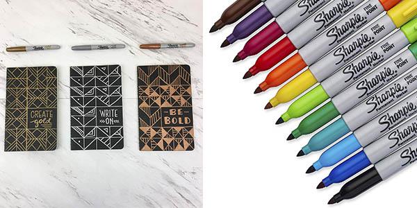 rotuladores permanentes de colores Sharpie chollo