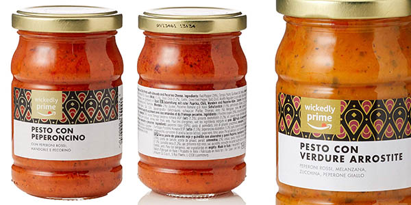 salsa pesto preparada Amazon Wickedlt oferta