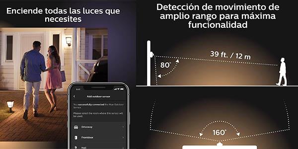 sensor inteligente para luces de exterior Philips Hue chollo