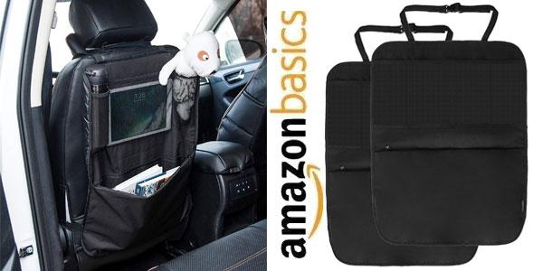 Set de 2 Organizadores para asiento trasero de coche AmazonBasics con esteras protectoras barato en Amazon
