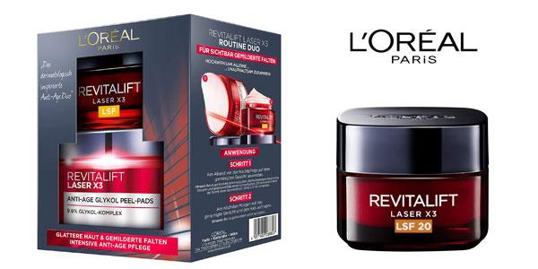 Set duo Revitalift Laser X3 rutina Cuidado Facial Anti-Edad y Anti-manchas L 'Oréal Paris barato en Amazon