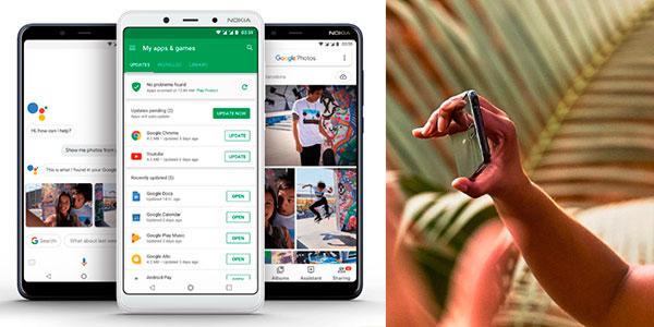 """Smartphone Nokia 3.1 Plus de 6"""" con Android One, 3 GB RAM y cámara dual en oferta"""