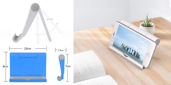 Soporte para smartphone o iPad tablet Dosige sobre mesa chollazo en Amazon