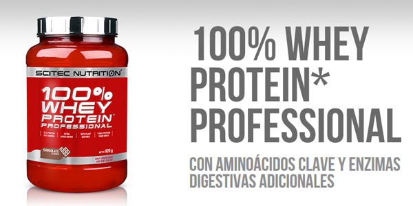 Envase Scitec Whey Protein Professional Mezcla de Proteína de Suero, chocolate con avellana de 2350 gr barato en Amazon