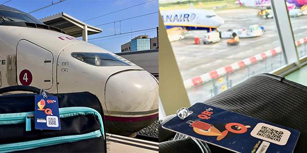 tarjeta QR para maletas con localizador para pérdidas de equipaje con relación calidad-precio estupenda