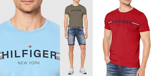 Tommy Hilfiger Corp Flag camiseta para hombre barata