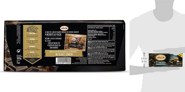 Valor chocolate negro con caramelo y sal oferta