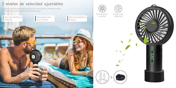 ventilador de bolsillo Lobkin con cupón descuento Amazon