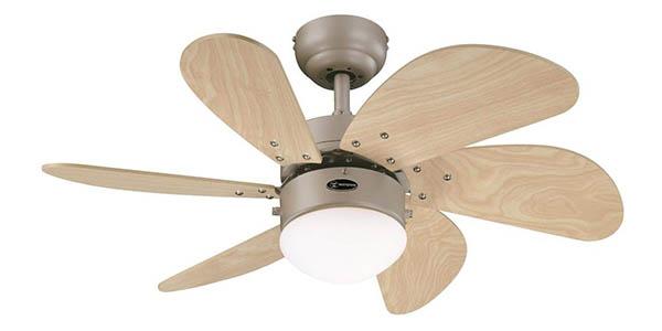 ventilador de techo lámpara para estancias pequeñas Westinghouse 78158 Turbo Swirl chollo