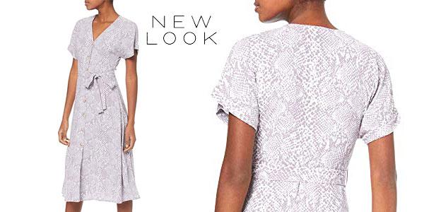 Vestido New Look Snake Print gris para mujer chollazo en Amazon