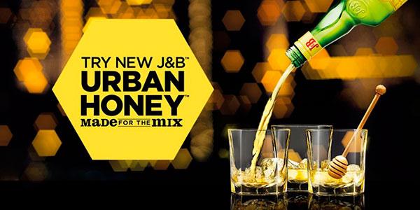 Whisky J&B Urban Honey de 700 ml barato