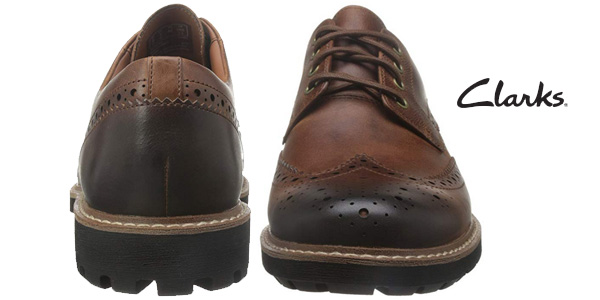 Zapatos de cordones Clarks Batcombe Wing para hombre chollazo en Amazon