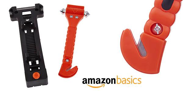 AmazonBasics set de emergencia para el coche con cortador cinturón y rompecristales barato