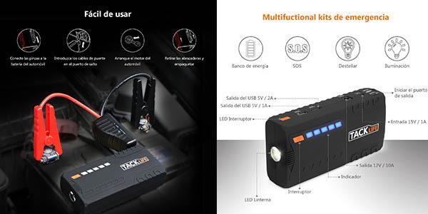 arrancador de coche Tacklife-T6 con cargador USB chollo