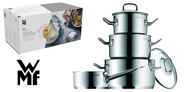 Batería de cocina de 4 piezas WMF Profi Plus acero inox 18/10 barata en Amazon