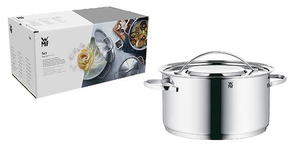 batería con 7 ollas y cacerolas de cocina apta para inducción WMF Gala Plus chollo