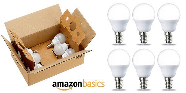 bombillas LED E14 AmazonBasics baratas