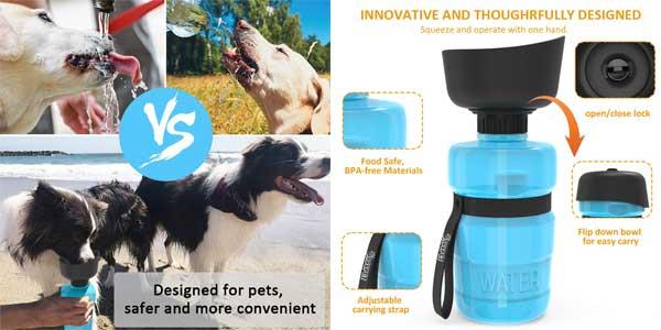 Botella de Agua DADYPET para perros y gatos chollazo en Amazon