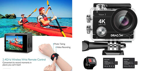 cámara deportiva Dragon Touch 4K WiFi barata