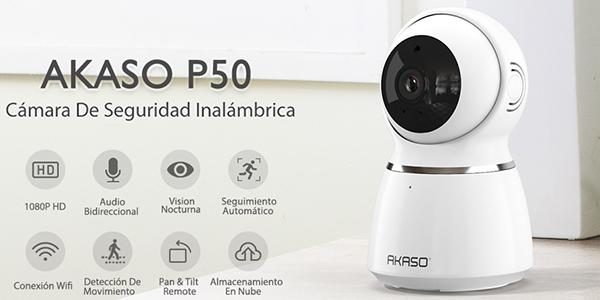 Cámara de vigilancia AKASO WiFi 1080p 360º
