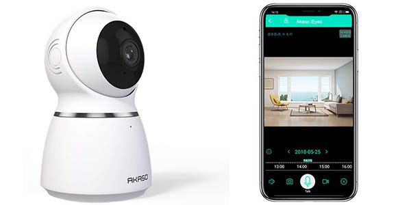 Cámara de vigilancia AKASO WiFi 1080p barata