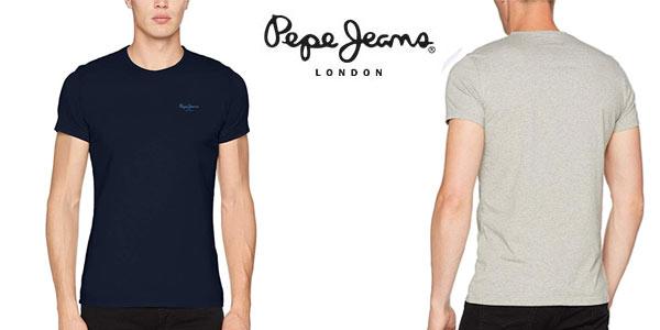 Camiseta básica Pepe Jeans para hombre barata en Amazon