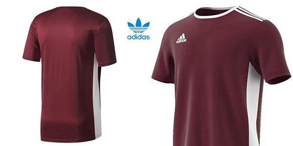 Camiseta deportiva manga corta adidas Entrada 18 para hombre chollo en Amazon