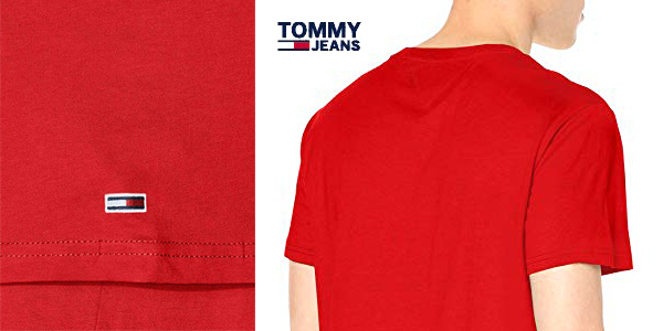 Camiseta manga corta Tommy Jeans TJM Circle Graphic tee chollazo en Amazon