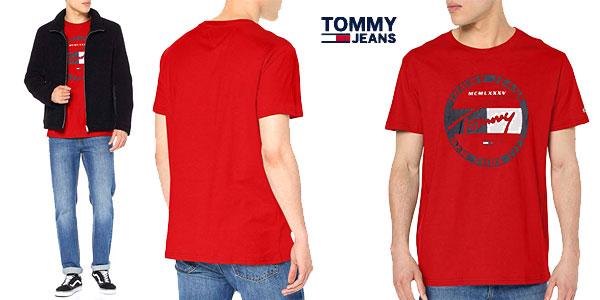 Camiseta manga corta Tommy Jeans TJM Circle Graphic tee barata en Amazon