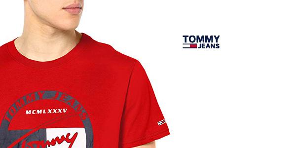 Camiseta manga corta Tommy Jeans TJM Circle Graphic tee chollo en Amazon
