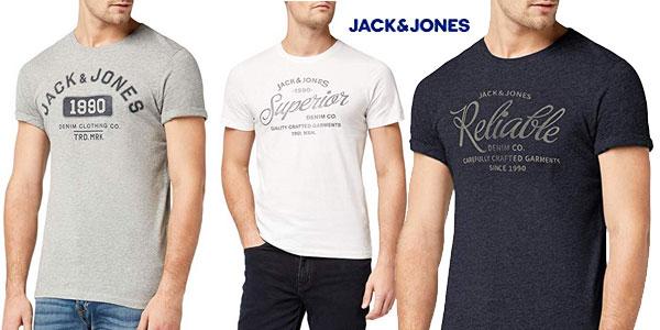 Camiseta manga corta JACK & JONES Jjejeans Print tee para hombre barata en Amazon