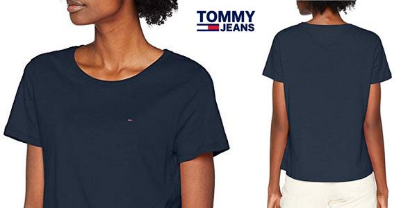 Camiseta manga corta Tommy Jeans Mujer SOFT barata en Amazon