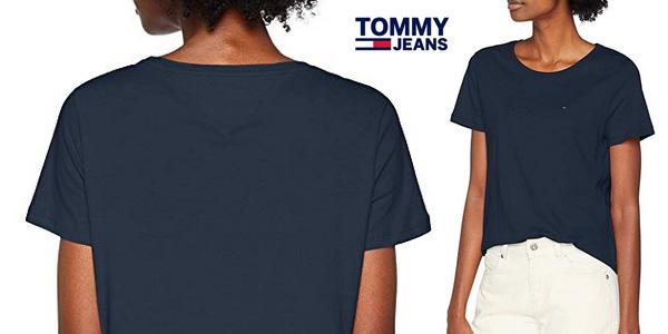 Camiseta manga corta Tommy Jeans Mujer SOFT chollazo en Amazon