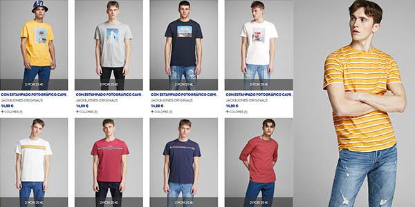 camisetas de algodón para hombre Jack Jones promoción verano