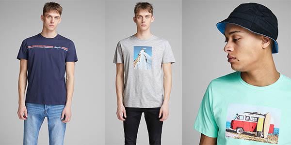 camisetas Jack Jones para hombre ofertas verano
