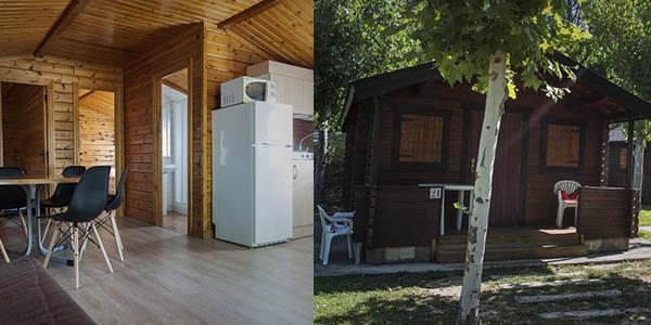 camping con bungalows cerca de Aínsa en Huesca barato