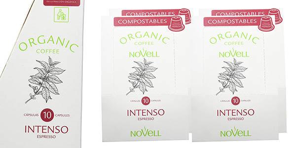 cápsulas de café compostables Novell Intenso oferta