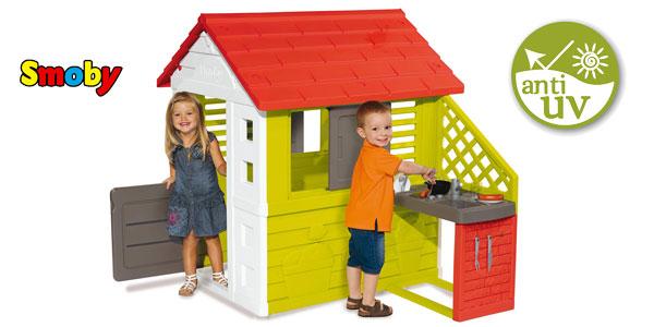 Casa Infantil Smoby Nature II con cocina y accesorios barata en Amazon