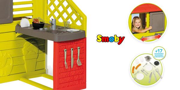 Casa Infantil Smoby Nature II con cocina y accesorios chollo en Amazon