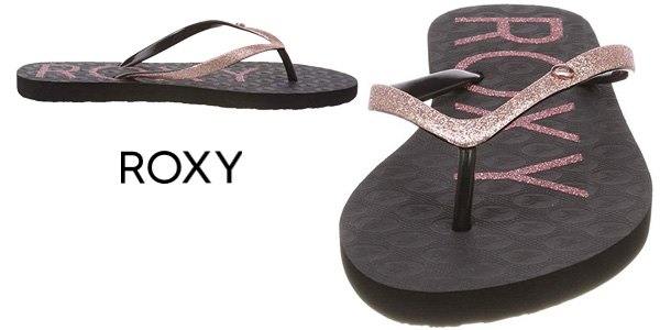 Chanclas de dedo Roxy Viva Glitter IV para mujer baratas en Amazon