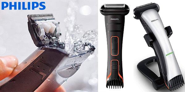 Chollo Afeitadora corporal Philips BodyGroom TT2039/32 inalámbrica con cabezal de recorte y de afeitado