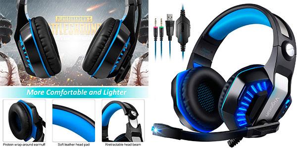 Chollo Auriculares gaming Vigorun GameK2 con cancelación de ruido para PS4 y Xbox One