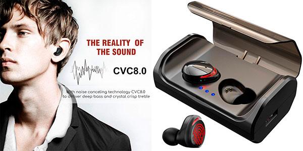 Auriculares HolyHigh Bluetooth 5.0 con estuche de carga