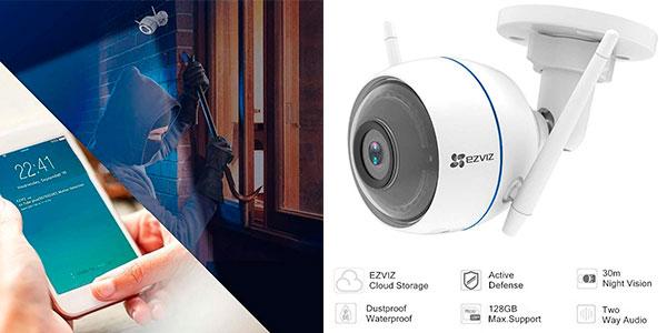 Chollo Cámara de seguridad Ezviz ezTube 1080P con sirena y luz estroboscópica