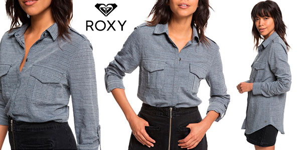 Chollo Camisa Roxy Military Influence Stripe para mujer