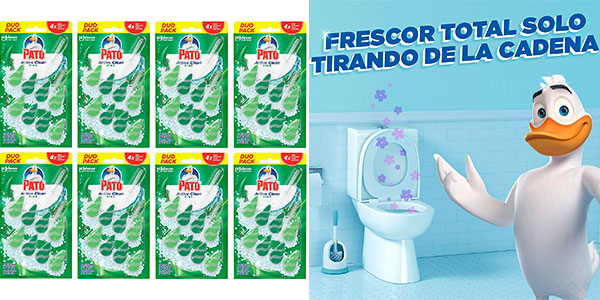 Chollo Colgadores Pato Active Clean para el inodoro