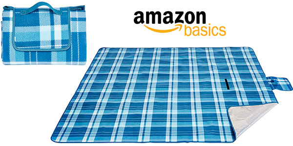 Chollo Manta AmazonBasics para pícnic con base impermeable (175 x 200 cm)